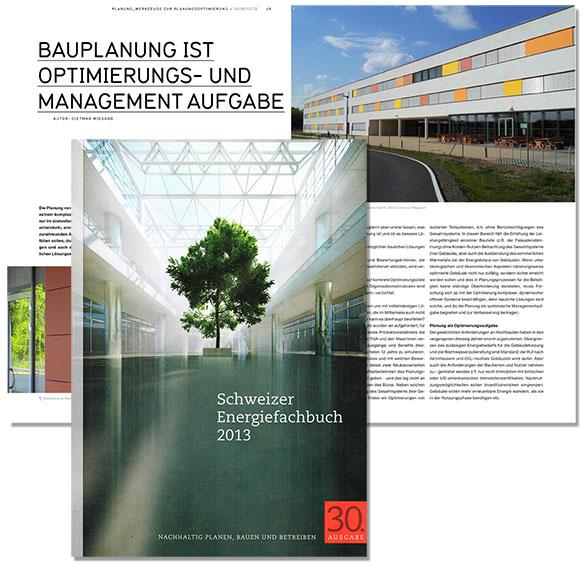 Dietmar Wiegand Schweizer Energiefachbuch 2013 Bauplanung ist Optimierungs- und Management-Aufgabe