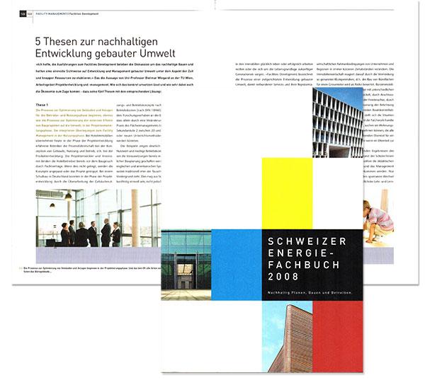 Dietmar Wiegand Schweizer Energiefachbuch 2008 5 Thesen zur nachhaltigen Entwicklung gebauter Umwelt