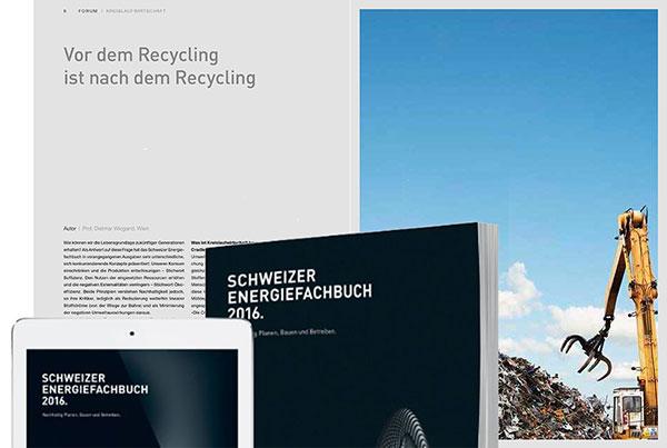 Dietmar Wiegand Schweizer Energiefachbuch 2016 Vor dem Recycling ist nach dem Recycling